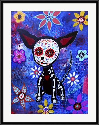 Hot Halloween Art! Chihuahua Dia De Los Muertos by Prisarts