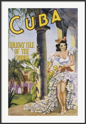 Cuba Holiday Isle of the Tropics - vintage Caribbean travel poster