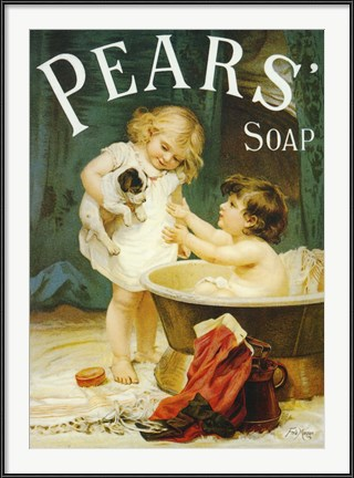 Pears Soap vintage advertising poster