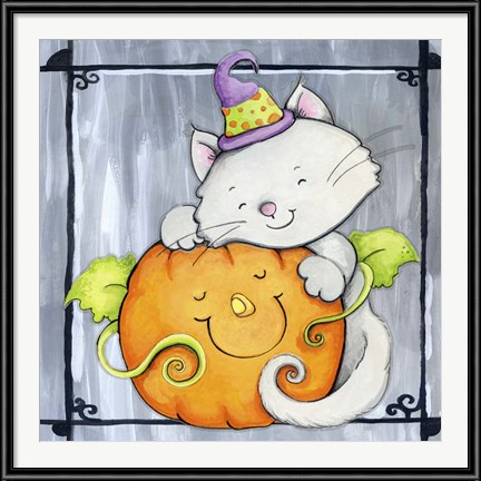 Happy Halloween Art - Pumpkin Hugs by Valarie Wade