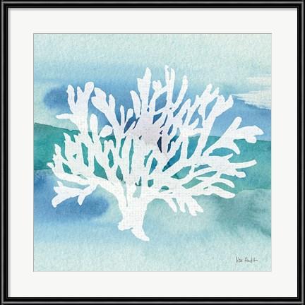 Pastel Blue Kids Art - Sea Life Coral II by Lisa Audit