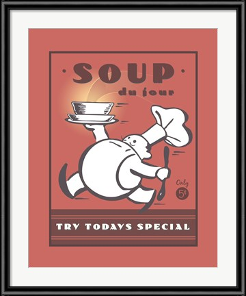 Fun kitchen art, like Paulo Viveros' Soup Sign always brings a smile.
