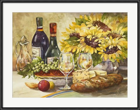 Wine and Sunflowers by Jerianne Van Dijk