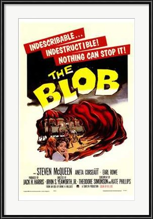 Vintage Advertising Posters: The Blob with Steve McQueen