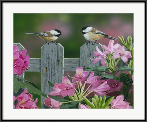 Backyard Framed Artwork - Back Yard Chat by William Vanderdasson