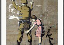 Thought Providing Dining Room Wall Art - Bethlehem Wall Graffiti by Banksy