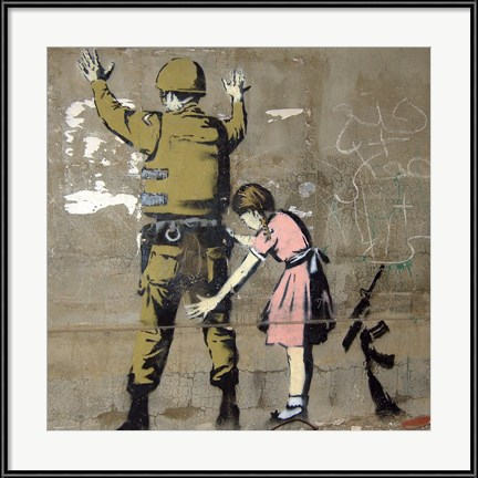 Thought Providing Dining Room Wall Art - Bethlehem Wall Graffiti by Banksy