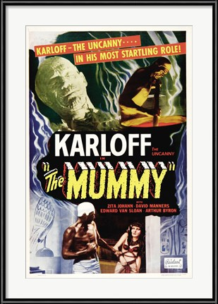 Vintage Horror Movie Poster - The Mummy starring Boris Karloff