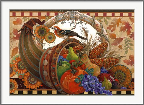 Traditional Thanksgiving Art - Cornucopia by David Galchutt