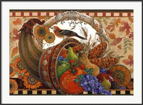Traditional Thanksgiving Art - Cornucopia by David Galchutt