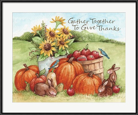 Thanksgiving Artwork - Gather Together To Give Thanks by Melinda Hipsher