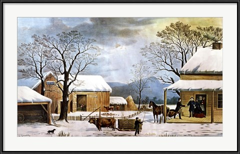 Currier and Ives - Home, Thanksgiving