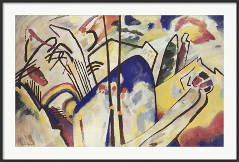 Contemporary Living Room Wall Art - Komposition 4 ,1939 by Wassily Kandinsky