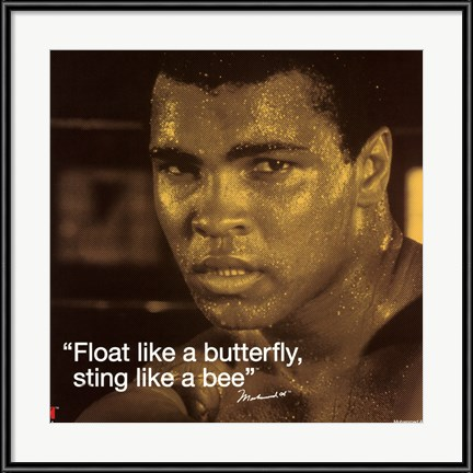 Muhammad Ali - Float like a Butterfly Sting like a Bee