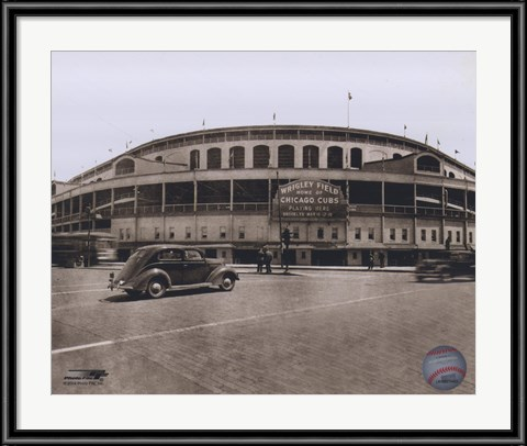 Vintage Wrigley Field photograph is a quintessential piece of sports art