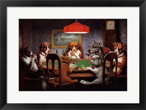 Dogs Playing Poker The History Behind The Classic Framedart Tour Blog