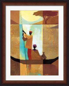 On the River II by Keith Mallett