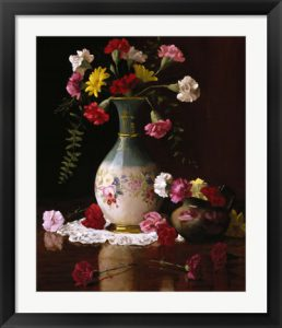 Carnations in a Victorian Vase by Christopher Pierce