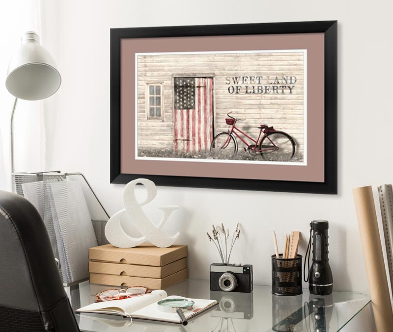 framed americana wall art