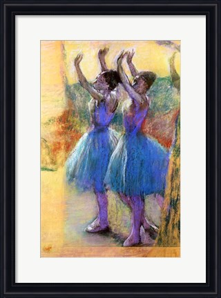 Framed artwork Two Blue Dancers by Edgar Degas