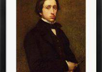 Framed Self Portrait of Edgar Degas