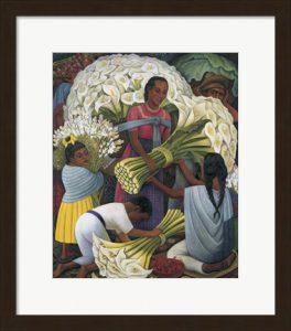 The Flower Vendor by Diego Rivera