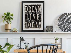inspiration framed wall art