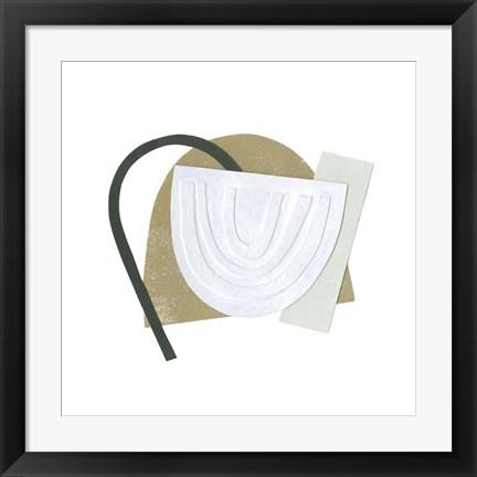 japandi abstract framed art
