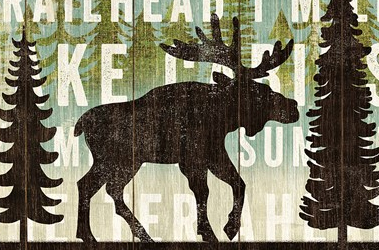 Simple Living Moose by Michael Mullan