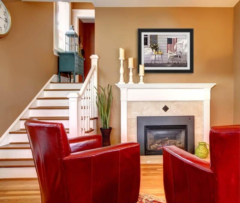 Americana Decor Framed Decorating Ideas And Framed Art
