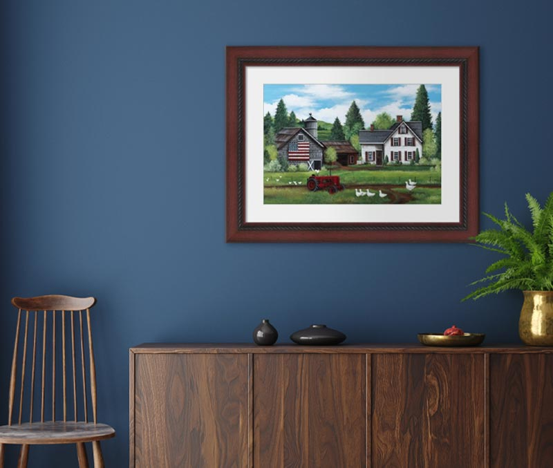 Framed Americana Living Room art