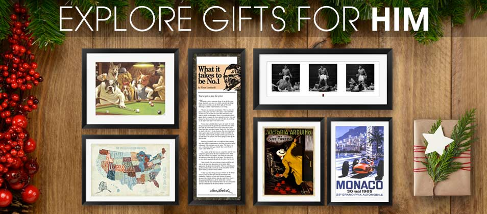 Framed Art Gifts for Him