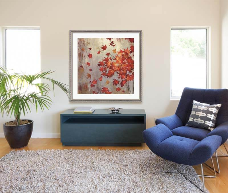 Crimson Foliage in a living room