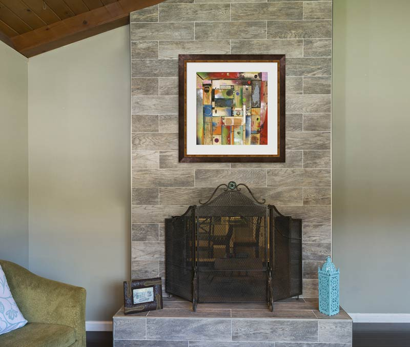Chalk Painting over a mantel