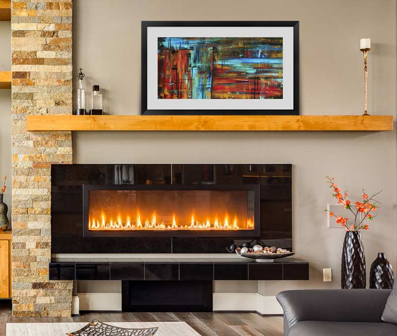 Abstract Art over a mantel