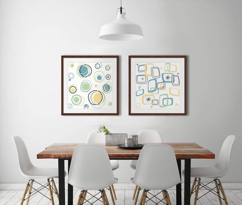 Geometric Lines and Designs Art Dining 1