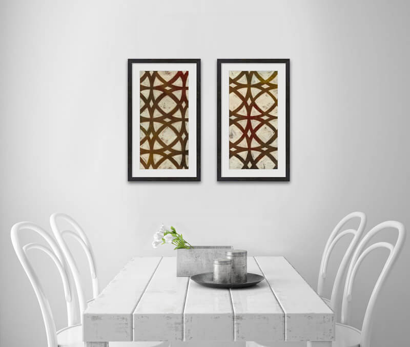 Geometric Lines and Designs Art Dining 2