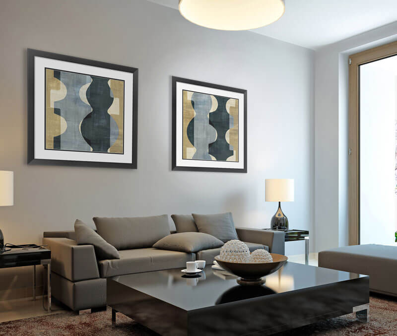 Geometric Lines and Designs Living Room 2