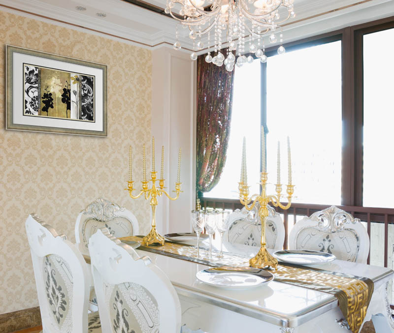 Hollywood Regency dining room decor