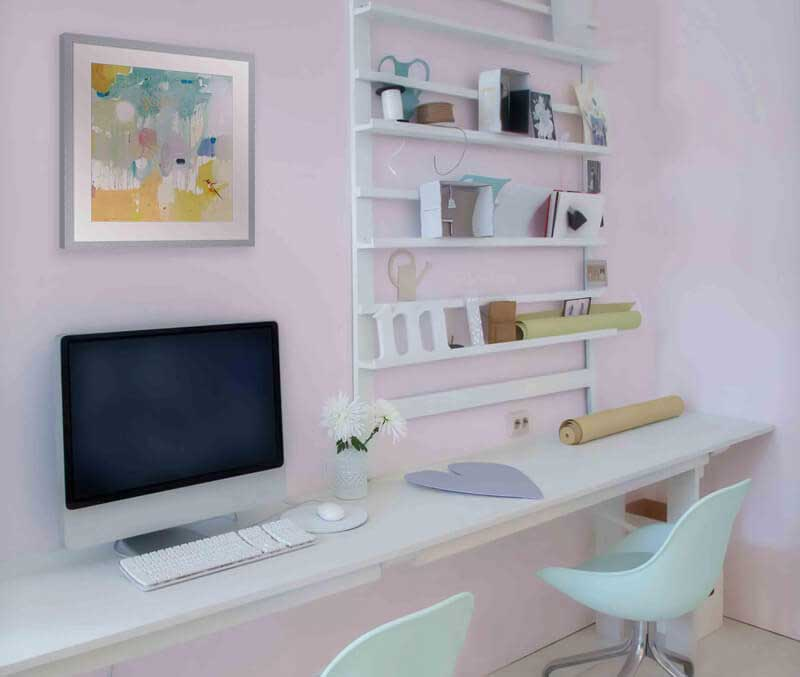 Modern Pastels Living Room 2