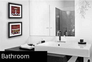 framed bathroom prints
