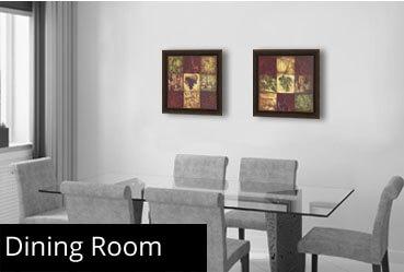 Framed art by room bedroom bathroom kitchen and more for Dining room framed art