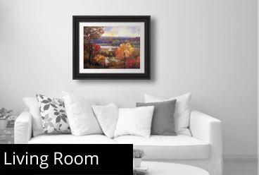 framed living room art