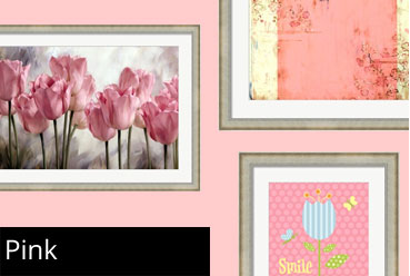 Framed Pink Prints