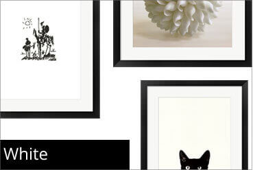 White Framed Art Prints