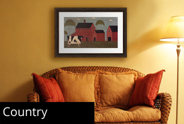 Framed Country Prints