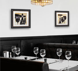 Framed Restaurant Art