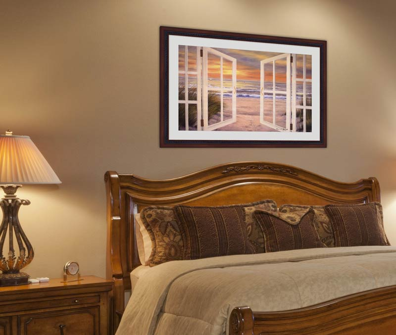 Framed Art Over A Bed