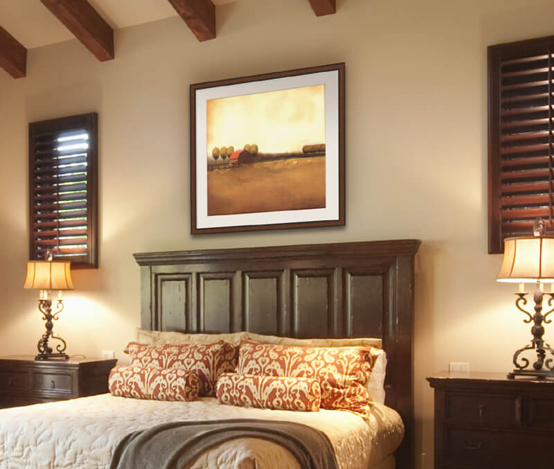 Rural Landscape in a bedroom