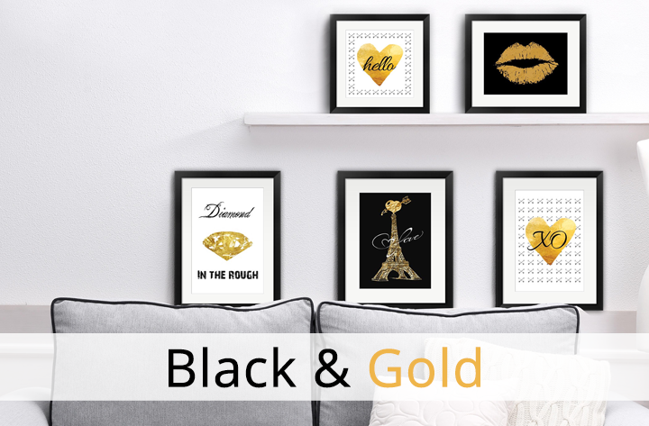 Black and Gold Glamorous Art